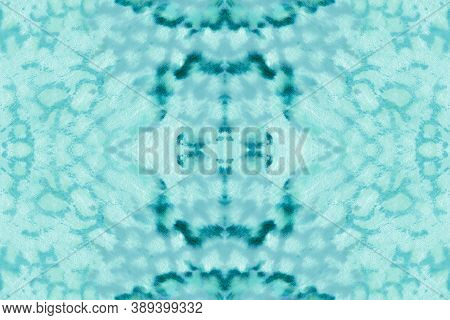 Seamless Predator Pattern. Blue And White Colors. Trendy Exotic Wallpaper. Cobra Or Serpent Animal P