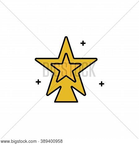 Tree, Christmas, Star Line Icon. Elements Of New Year, Christmas Illustration. Premium Quality Graph
