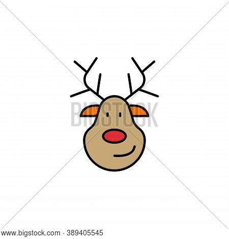 Deer, Christmas Line Icon. Elements Of New Year, Christmas Illustration. Premium Quality Graphic Des