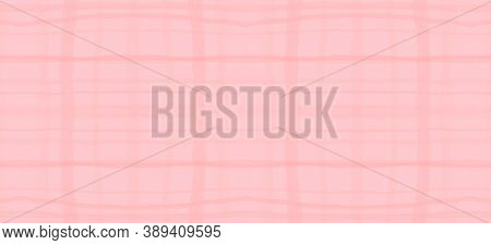 Watercolour Pink Plaid. Girl Elegant Picnic Fabric. British Checkered Twill. Seamless Pink Plaid. Ki