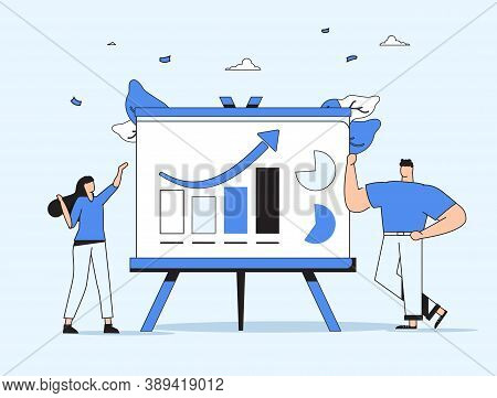 Presentation Slide Templates Or Landing Page Websites Design. Business Concept Illustrations. Modern