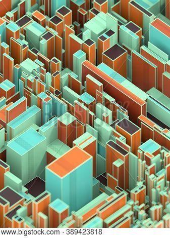 Modern 3d Rendering Digital Illustration For Concept Design. Technology Background. Travel Concept.