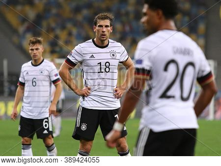 Kyiv, Ukraine - October 10, 2020: Portrait Of German Footballer Leon Goretzka (c) Seen During The Ue