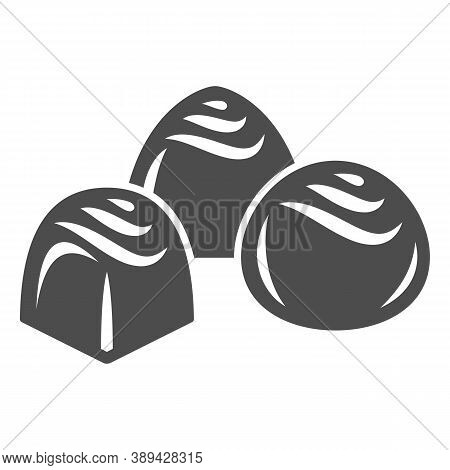 Chocolates Solid Icon, Chocolate Festival Concept, Chocolate Candies Sign On White Background, Choco