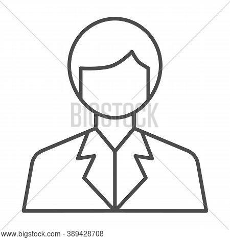 Scientist Thin Line Icon, Science Concept, Chemist Sign On White Background, Scientist Avatar Icon I