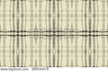Black Fall Plaid Pattern. Seamless Tartan Fabric. Gingham Design. Grey Hipster Irish Repeat. Plaid P