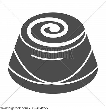 Chocolate Candy Solid Icon, Chocolate Festival Concept, Candy Sign On White Background, Chocolate Pr