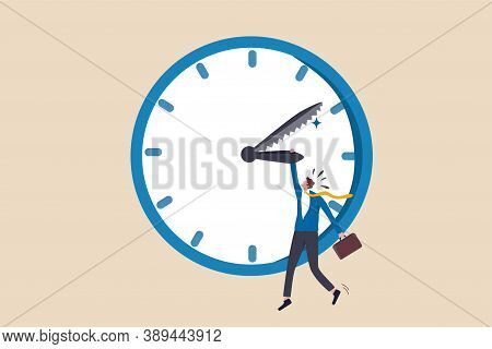 Project Deadline, Time Countdown For Agreement Timeline To Finish Work Concept, Frustrated Stress Bu