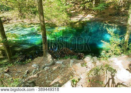 View Of Ochiul Beiului, Cheile Nerei National Park, Romania