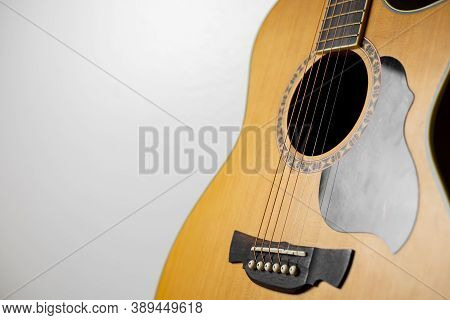 Acoustic Guitar That Is Classic And Beautiful