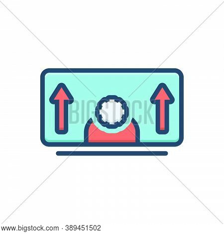 Color Illustration Icon For Personal-development Personal Development Evolution Growth Abilities Emp