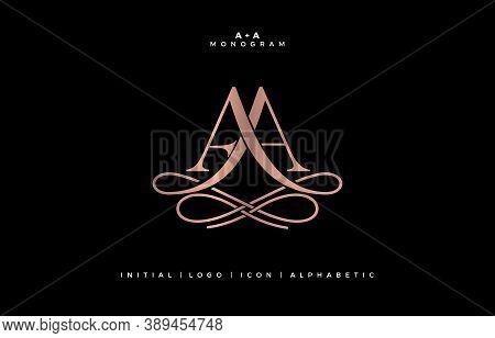 Aa Monogram, Aa Initial Wedding , Aa Logo Company, Aa Icon Business, Aa Sign, Symbol With Variation