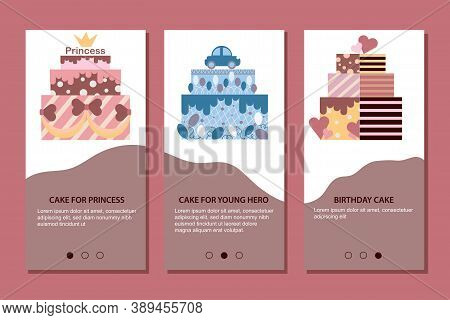 Mobile App Page Cake For Princess, Cake For Young Hero, Cake Birthday Cake For Kids.