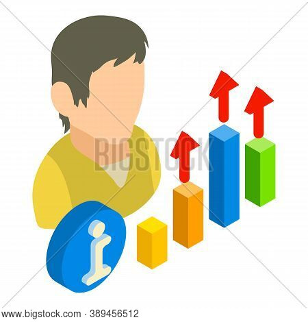 Growth Optimization Icon. Isometric Illustration Of Growth Optimization Vector Icon For Web