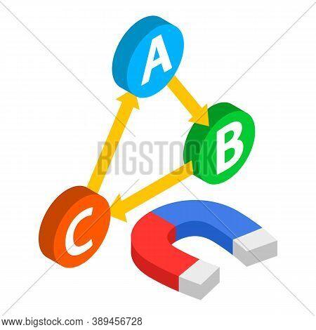 Inbound Marketing Icon. Isometric Illustration Of Inbound Marketing Vector Icon For Web