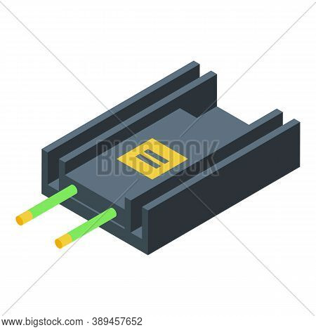 Voltage Regulator Appliance Icon. Isometric Of Voltage Regulator Appliance Vector Icon For Web Desig