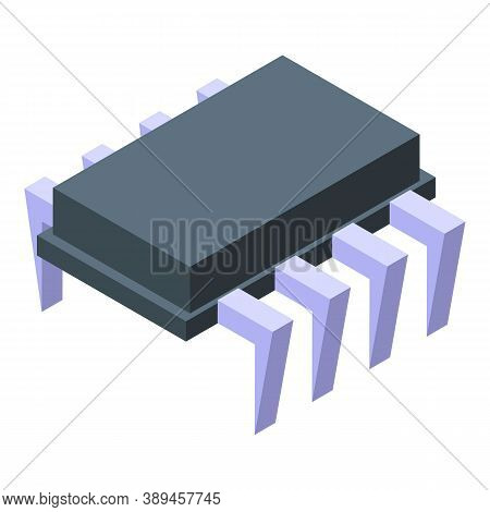 Voltage Regulator Circuit Icon. Isometric Of Voltage Regulator Circuit Vector Icon For Web Design Is