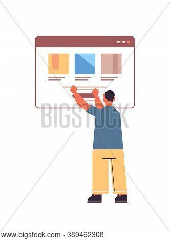 Web Developer Testing New App Features Application Development Software Programming Concept Full Len