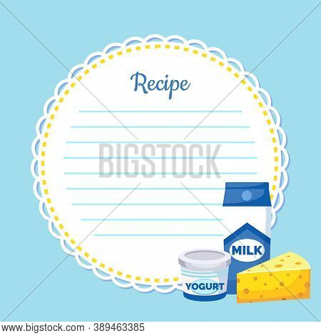 Recipe Note With Empty Lines, Sticker, Blank For Making Notes, Write Useful Information. Recipe For