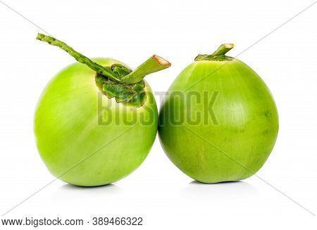 Green Coconut An Isolated On White Background