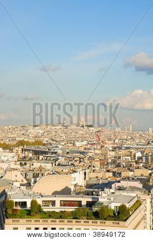 overview of Paris   Mont Matre hill, France poster