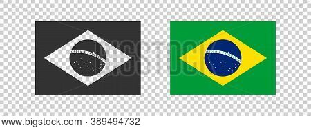 Flag Of Brazil. National Flag Of Brazil Concept. Vector Illustration