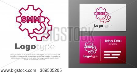 Logotype Line Smm Icon Isolated On White Background. Social Media Marketing, Analysis, Advertising S