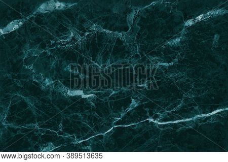 Dark Green Marble Texture Background With High Resolution, Top View Of Natural Tiles Stone In Luxury