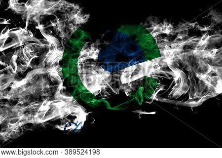 United States Of America, America, Us, Usa, American, Carrollton, Texas Smoke Flag Isolated On Black
