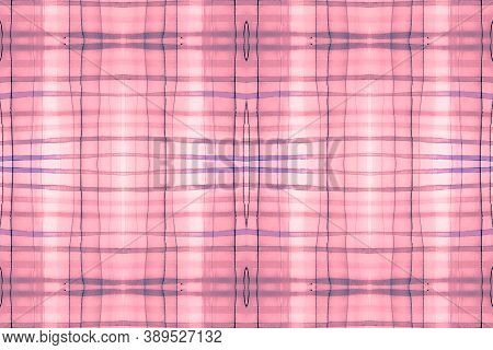 Watercolour Scotland Fabric. Blue Plaid Textile. Seamless Celtic Kilt Print. Textured Tablecloth. Fa