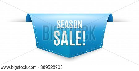 Season Sale Symbol. Ribbon Label Tag. Special Offer Price Sign. Advertising Discounts Symbol. Infogr