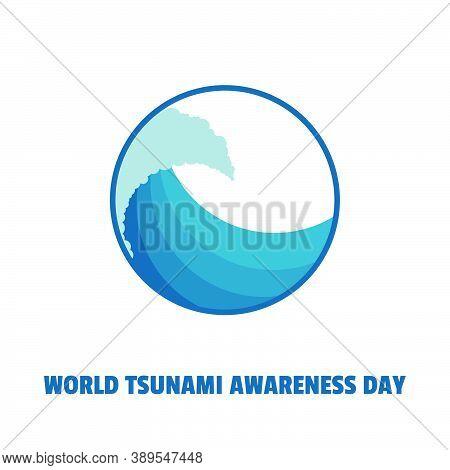 World Tsunami Awareness Day Vector Illustration With Tsunami Icon Design. Good Template For Tsunami