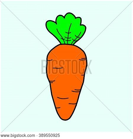 Carrot Vector Icon. Carrot Icon Isolated On White Background. Veg Icon Illustration. Carrot, Vegetab