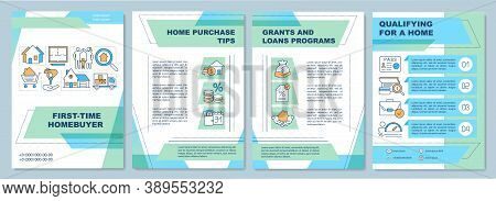 First Time Homebuyer Brochure Template. Home Purchase Tips. Flyer, Booklet, Leaflet Print, Cover Des