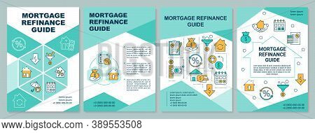 Mortgage Refinance Guide Brochure Template. Reduce Rate On Loan. Flyer, Booklet, Leaflet Print, Cove