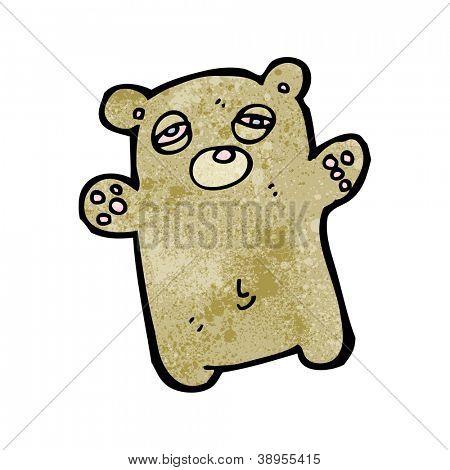 cartoon tired little bear poster