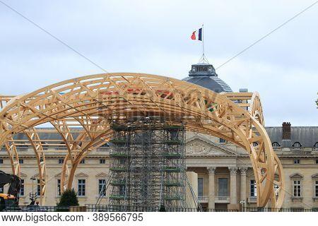 Paris, France. October 04. 2020. Ephemeral Construction Of The