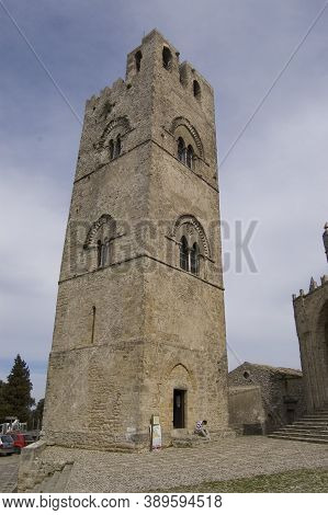 Erice, Italy - March 20, 2008: Cathedral Of Erice, Santa Maria Assunta, Chiesa Madre Matrice Or Main