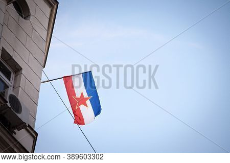 Yugoslav Flag, With The Red Star Of The Communist Socialist Federal Republic Of Yugoslavia (sfry), W