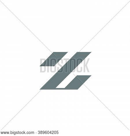Letter Z Logo Of Three Slanted Lines