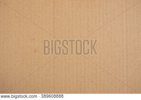 Brown Paper Texture Background, Kraft Paper Horizontal With Vertical Line And Unique Design Of Paper