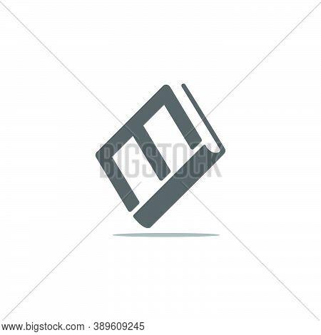 Letter M Book Education Symbol Geometric Logo Vector