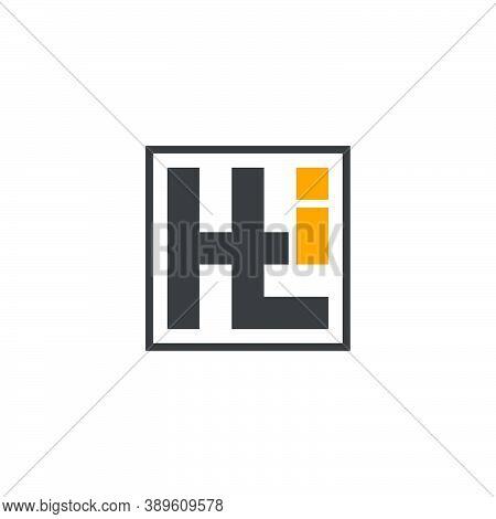 Letters Hti Simple Geometric Line Logo Vector