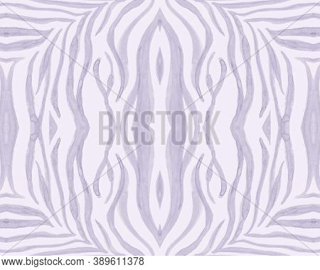 Tribal Ornament. Abstract Ethnic Texture. Camouflage Tiger Lines. Safari Textile Design. Seamless Tr