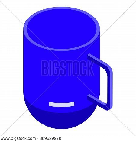 Plastic Mug Icon. Isometric Of Plastic Mug Vector Icon For Web Design Isolated On White Background