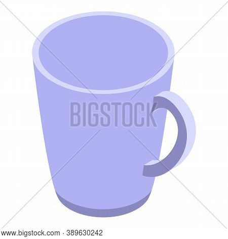 Tea Mug Icon. Isometric Of Tea Mug Vector Icon For Web Design Isolated On White Background