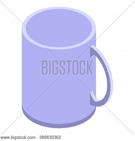 Cafe Office Mug Icon. Isometric Of Cafe Office Mug Vector Icon For Web Design Isolated On White Back