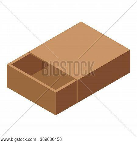 Carton Box Icon. Isometric Of Carton Box Vector Icon For Web Design Isolated On White Background