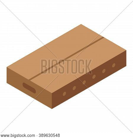 Parcel Carton Box Icon. Isometric Of Parcel Carton Box Vector Icon For Web Design Isolated On White