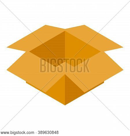 Open Parcel Box Icon. Isometric Of Open Parcel Box Vector Icon For Web Design Isolated On White Back